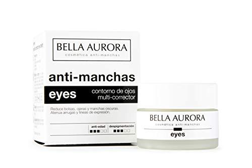 Bella Aurora Contorno de Ojos Crema Despigmentante, 15 ml  Anti-Arrugas  Anti-edad  Reduce Ojeras y Bolsas  Hidratante  Eyes