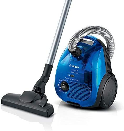 Bosch BGL2UK438 Serie  2 – Aspirador dual con y sin bolsa, Con filtro higiénico, 550 W, color azul
