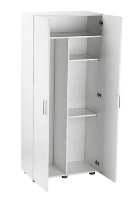 Armario alto despensero melamina blanco, de 180x79x42cm de 2 puertas.