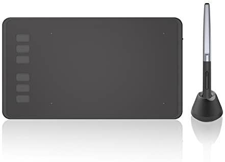 Huion Inspiroy H640P Tableta Gráfica de Dibujo, Tableta Gráfica de 6.3 x 3.9 Pulgadas con Lápiz óptico sin Batería, Compatible con Mac, Windows, Android, Ideal para Artistas, Diseñadores, Aficionados