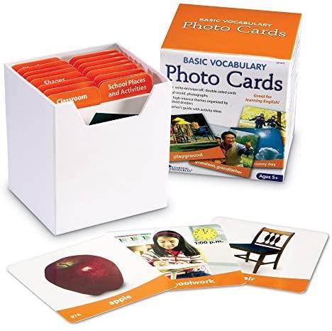 Learning Resources Ltd- Tarjetas fotográficas con Vocabulario básico, Color (LER6079)