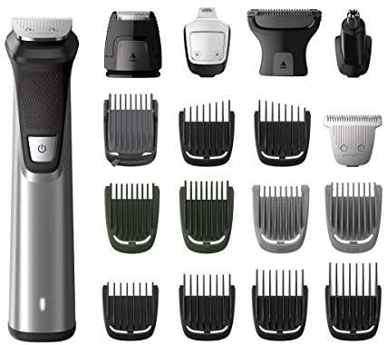Philips MULTIGROOM Series 7000 MG7770/15 – Afeitadora recargable (Negro, Plata, Rectángulo, Barba, Oído, Ceja, Moustache, Nariz, 300 min, Integrado, Batería)