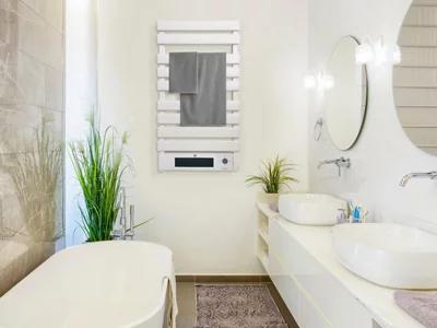 Radiador toallero NTW-25 500+1500 W WIFI blanco