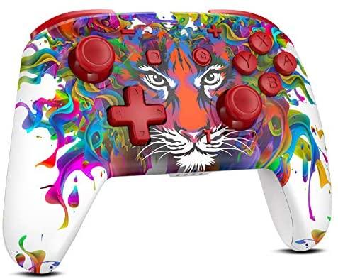 REDSTORM Mando para Nintendo Switch, Bluetooth Wireless Pro Controller para Switch Lite, 3 Niveles de Vibración, Sensor de Movimiento de 6 Ejes, Función Turbo, Batería Recargable