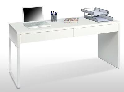 Mesa escritorio Touch blanco 138x50x75 cm
