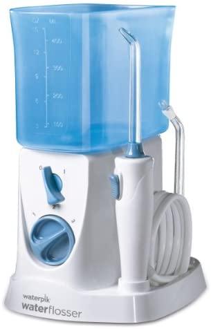 Waterpik WP250UK – Irrigador dental, color blanco [Importado de Inglaterra]