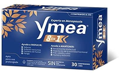 Ymea 8 en 1 ☑ Control de los 8 síntomas de la menopausia – Apto para uso prolongado – Sin estrógenos, soja o conservantes – 1 cápsula al día  Tratamiento de 1 mescápsulas al día – Tratamiento 1 mes