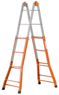 Escalera telescópica Acero 4×4