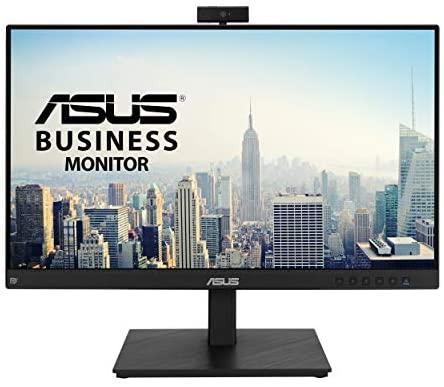 ASUS BE24EQSK – Monitor para videconferencias 23.8 Pulgadas, Full HD, IPS (sin Marco, cámara Web, Matriz de micrófonos, diseño ergonómico, antiparpadeo, luz Azul de Baja Intensidad), Color Negro