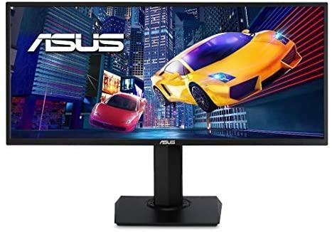 """ASUS VP348QGL – Monitor Gaming 34""""  75 Hz, UWQHD (3440×1440, 21:9, HDR-10, Adaptive-Sync/FreeSync, No Webcam, No Ajustable en Altura, Diseño ergonómico, Pip/PbP, Filtro luz Azul), Negro"""