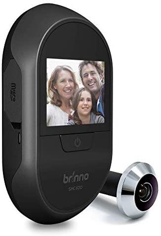 Brinno SHC1000W-14 DUO Mirilla Digital Dual – Cámara para Puerta de Entrada – Transmisión de Vídeo Local y Remota – Sin Cuotas ni WiFi ni Batería, Fácil Instalación, Discreta, Antirrobo, Privacidad