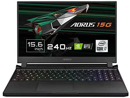 "Gigabyte AORUS 15G XC – Ordenador portátil de 15.6"" FHD 240Hz ( Intel Core i7-10870H, 32GB RAM, 512GB SSD, Nvidia RTX3070GB-8GB, Windows 10 Home) Negro – Teclado QWERTY Español"