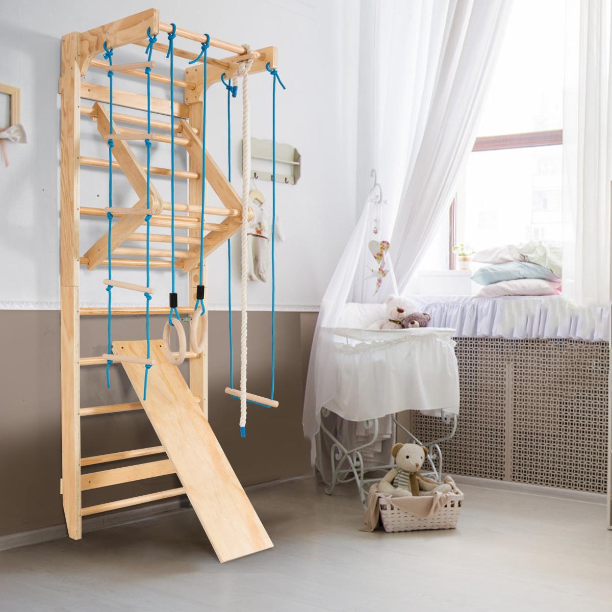 Espalderas Escalera de Gimnasia de Madera Ideal para Niños adultos y ancianos para Elongación Muscular y Alivio Dolor para Casa Gimnasio Jardí