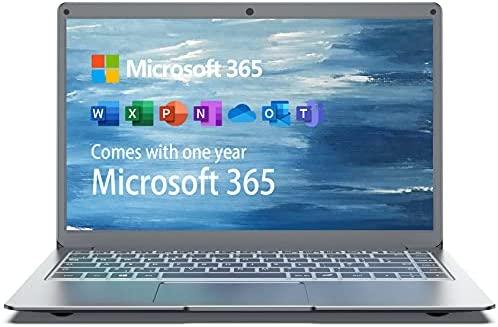 Jumper Portátiles 13.3 Pulgadas, Microsoft Office 365, 4GB DDR3 64GB eMMc, Windows 10 Laptop ,Intel Celeron N3350,Cámara Frontal HD, Bluetooth 4.2, doble banda WiFi, 256GB TF/1TB SSD Memoria ampliable