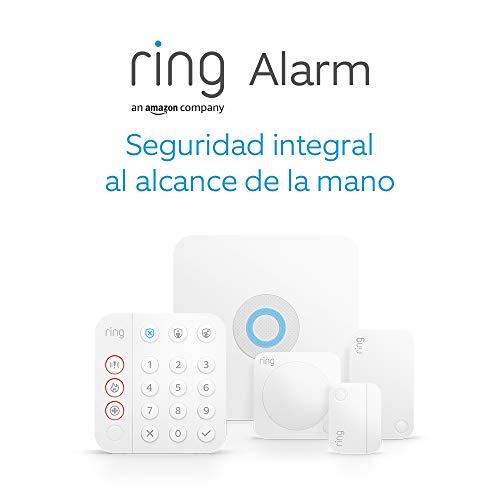 Kit de 5 piezas Ring Alarm de Amazon (2.ª generación)  Sistema de seguridad para el hogar compatible con Alexa y con vigilancia asistida opcional, sin compromisos a largo plazo