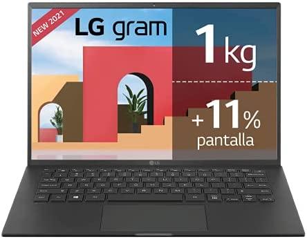 "LG – 14Z90P – Portátil ultraligero 14"" WUXGA (Intel EvoTM i7 11ª Generación, 16GB RAM, 1TB SSD, Iris Xe Graphics, Windows 10 Home) – Teclado QWERTY Español, Negro"