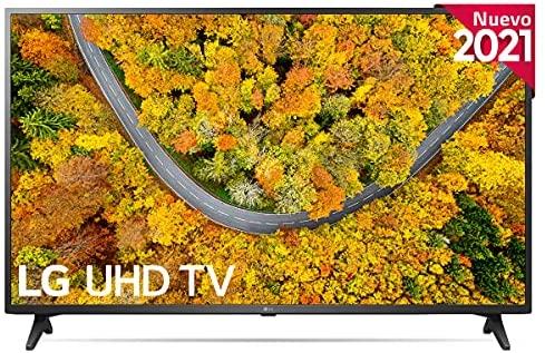 "LG 65UP7500-ALEXA 2021-Smart TV 4K UHD 164 cm (65"") con Procesador Quad Core, HDR10 Pro, HLG, Sonido Virtual Surround, HDMI 2.0, USB 2.0, Bluetooth 5.0, WiFi"