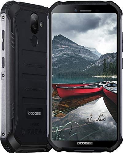 """Móvil Resistente, DOOGEE S40 Pro, 4GB + 64GB(SD 256GB) 4650mAh 4G Moviles Baratos y Buenos, Android 10 IP68 Smartphone de 5.45"""" HD+ Pantalla, Cámara 13MP+2MP, Cámara Frontal 5MP, NFC, GPS, Negro"""