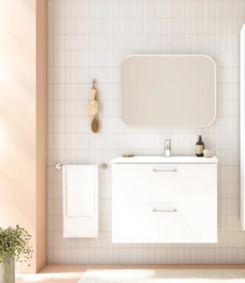 Conjunto de mueble de baño HAPPY BLANCO 80 cm