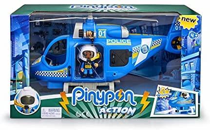 Pinypon Action – Helicóptero de policía con 1 Figura y Accesorios, para niños y niñas de 4 a 8 años (Famosa 700014782)