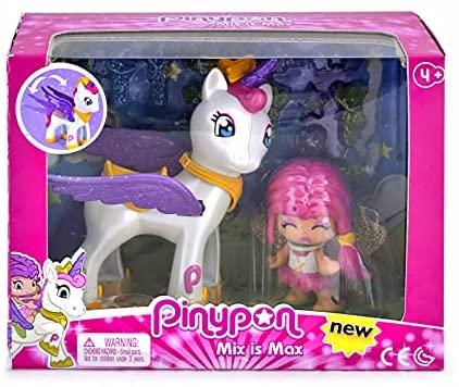 Pinypon – Estrella y Unicornio Volador, color/modelo Surtido, 32 Pequeños Accesorios (Famosa 700014082)