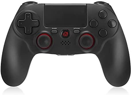 Powerextra Mando para PS4, Controlador Inalámbrico para PS4 Wireless Bluetooth Doble shock 4 con Doble Vibración, Audio,Panel Táctil de Alta Precisión,Sensor Giroscópico de 6 Ejes,360 ° Joystick
