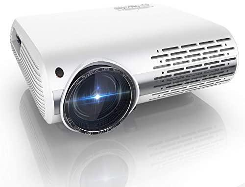 Proyector, YABER Y30 8000 Lúmenes Proyector Full HD 1920x1080P Proyector Cine en Casa Soporta 4K y Sonido HiFi, Ajuste Digital 4D y Función de Zoom, Proyector LED con Tecnología de Nueva Generación