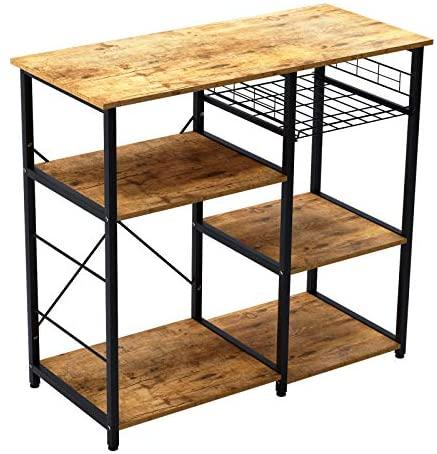 soges Estante de cocina Estante de horno microondas, Multi-función Utensilios de cocina Estantes de almacenamiento,W5S-FG