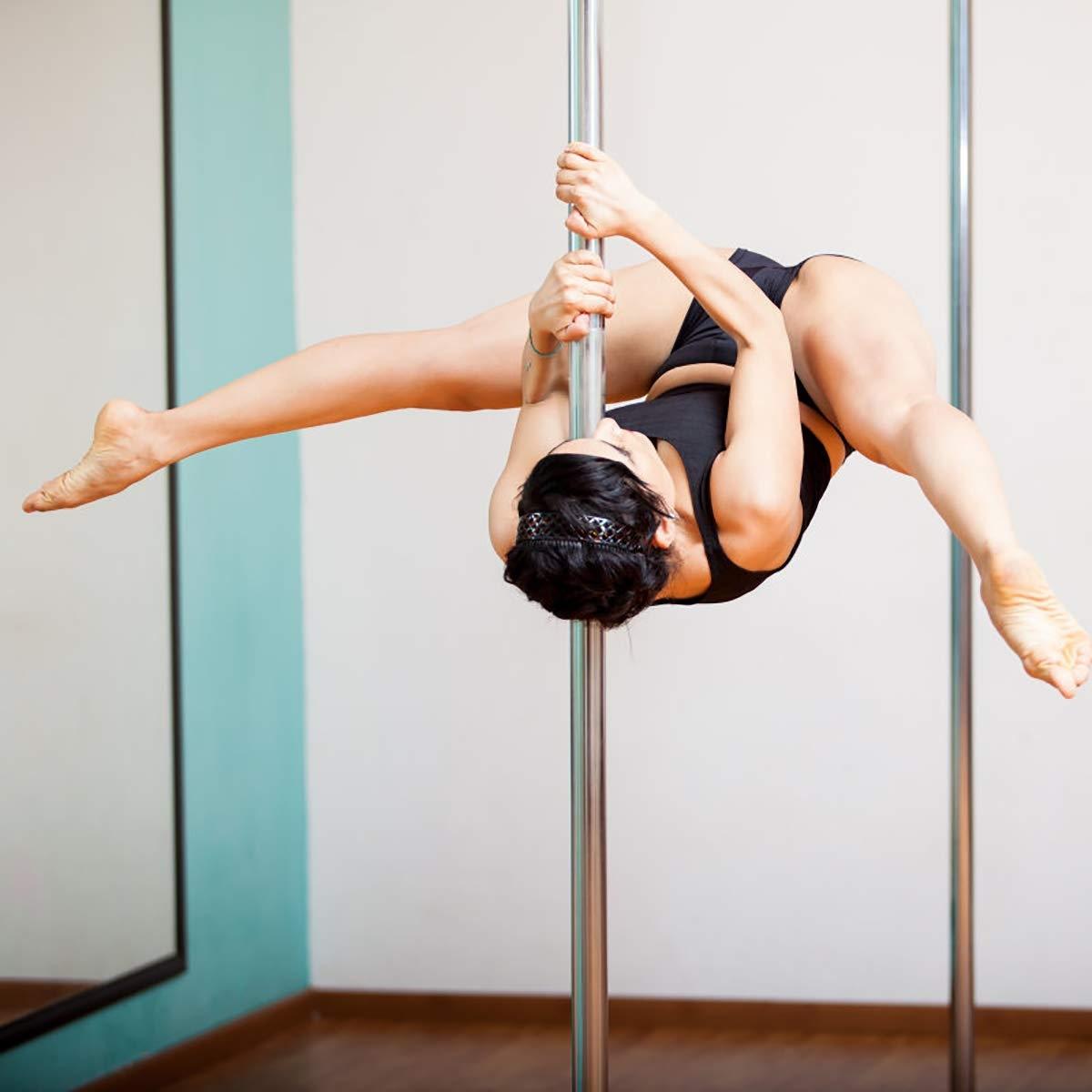 Ejercicio profesional Pole Dance en acero inoxidable 45 mm. Altura ajustable 2.23-2.74m.