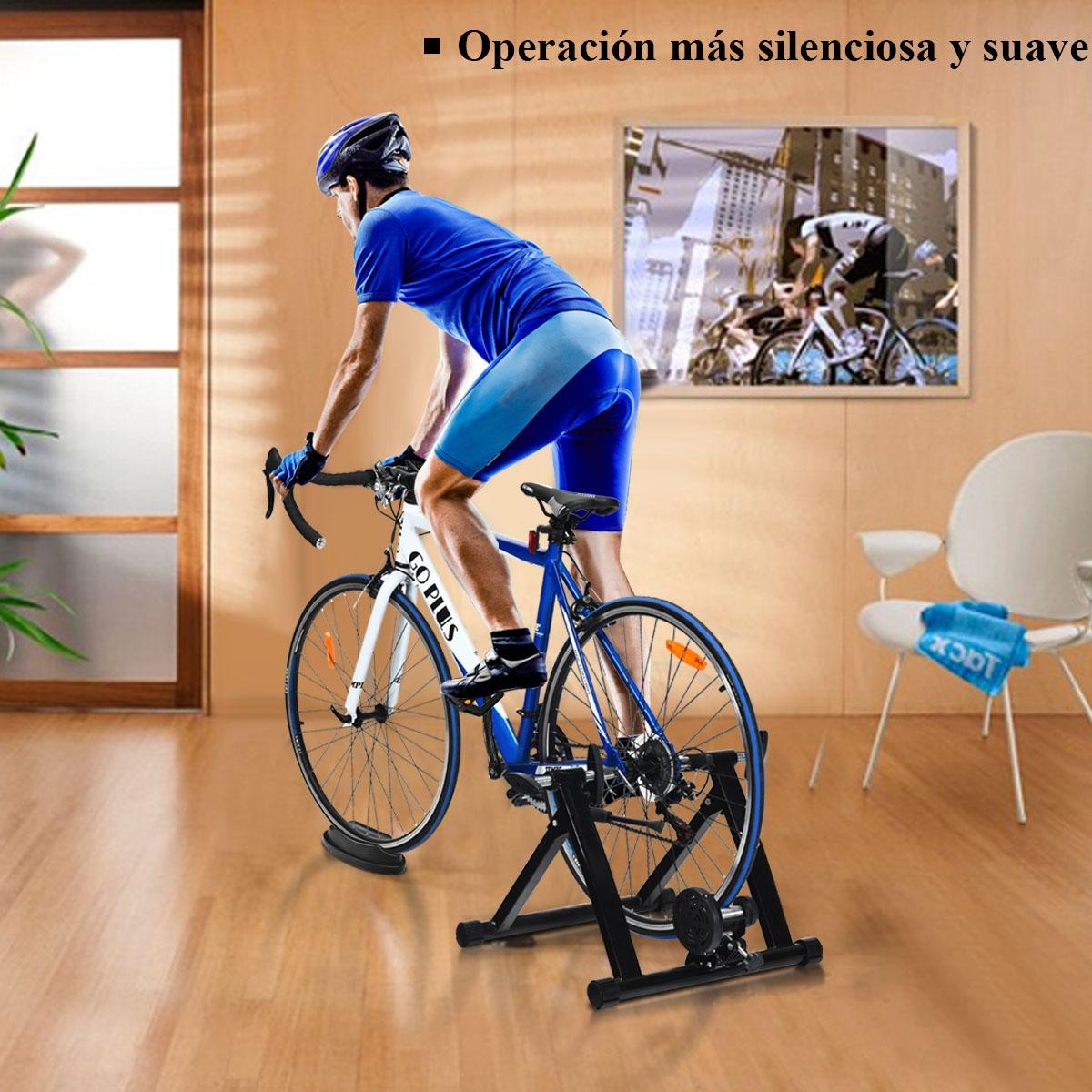 Soporte para Bicicleta de Montaña y Bicicleta de Carretera 66-71 cm con Doble Cierre y Liberación Rápida Negro 54 x 50 x 39,5 cm