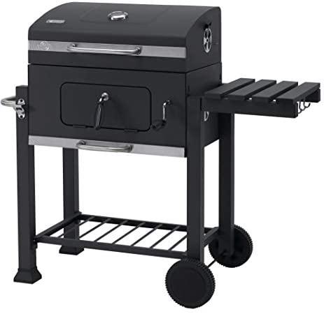 Tepro Toronto Click – Barbacoa de carbón/parrilla carro esmaltada, antracita/acero inoxidable